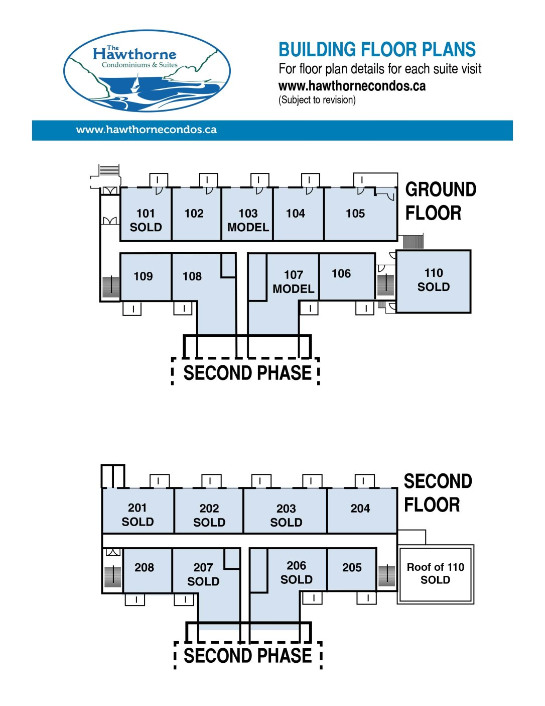 Floor Plans Hawthorne Condominiums And Suites